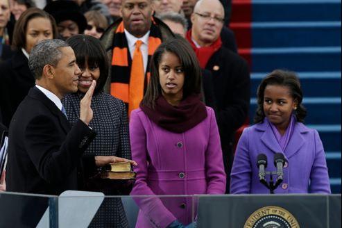 Barack Obama prête serment pour son second mandat, lundi au Capitole.