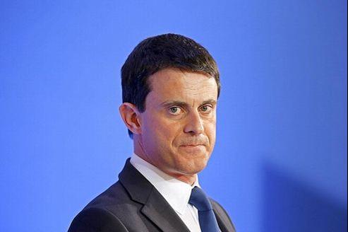 Le ministre de l'Intérieur, Manuel Valls, la semaine dernière à Paris.
