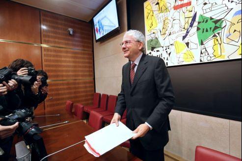 Olivier Schrameck, mardi, lors de son audition par les parlementaires dans le cadre de sa nomination au CSA.