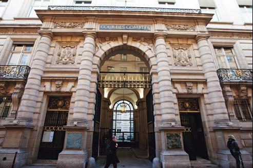 Le siège de la Cour des comptes, rue Cambon à Paris.
