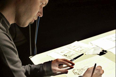 Zep en 2005 pour le premier concert de dessin donné à Angoulême.