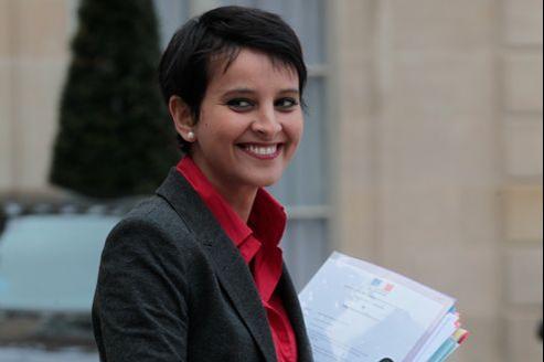 Najat Vallaud-Belkacem, porte-parole du gouvernement, ici à la sortie du Conseil des ministres, en novembre à l'Élysée.