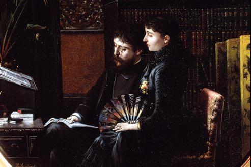 Alphonse Daudet et sa femme Julia.