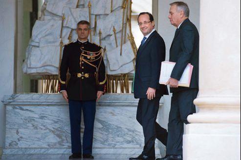 François Hollande et Jean-Marc Ayrault, le 9 janvier à l'Élysée.