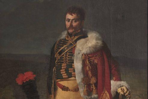 Portrait d'apparat du baron Jean-Baptiste Isidore Martin de Laborde par Alexandre Benoît Jean Dufay Casanova (224 x 149 cm).