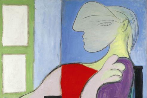 «Femme assise près d'une fenêtre», huile sur toile (146 x 11 cm), peint en octobre 1932 par Picasso, à Boisgeloup (estimation 30,90 à 43,38 millions d'euros)