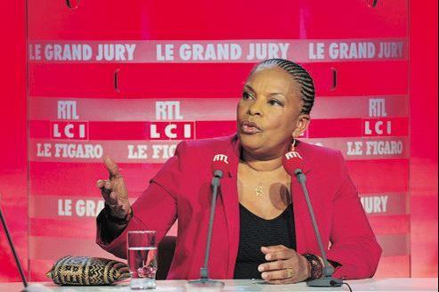 Christiane Taubira, dimanche, au «Grand Jury RTL-LCI-Le Figaro».