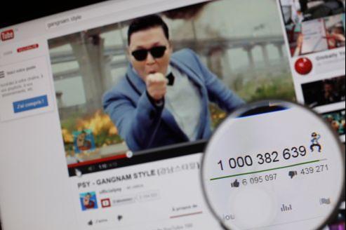 La chanson «Gangnam Style» du chanteur sud-coréen Psy, visionnée plus d'un milliard de fois, n'a généré que 8millions de dollars de recettes publicitaires dans le monde.