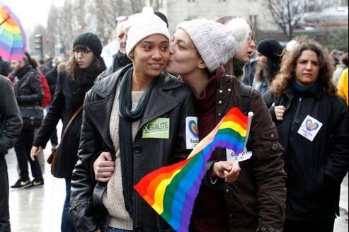 Manifestation en faveur du mariage pour tous, dimanche 27 janvier à Paris.