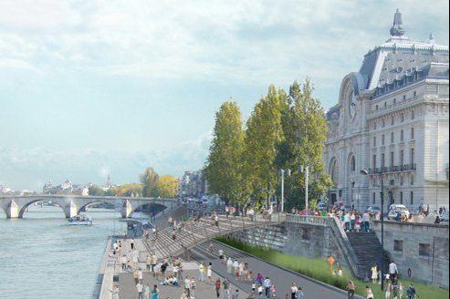 Les 30.000 automobilistes qui empruntent chaque jour les voies sur berge entre le pont de l'Alma et le Musée d'Orsay devront imaginer un autre itinéraire.