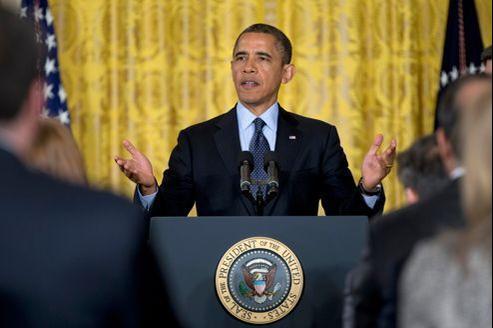 Barack Obama, le 25 janvier à la Maison-Blanche.