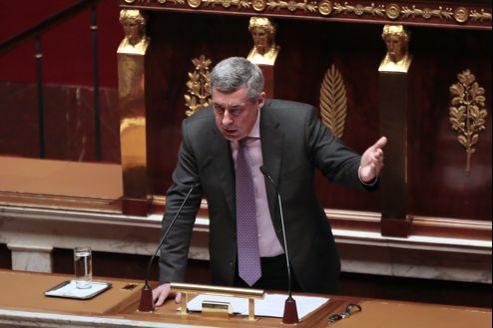 Henri Guaino, premier orateur UMP dans ce débat à l'Assemblée nationale, a été très applaudi à droite.