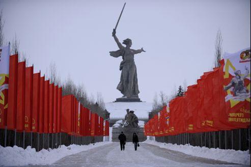 La statue représentant la mère patrie, à Volgograd.