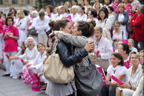 Lors d'une manifestation d'opposants au mariage pour tous, à Marseille, en octobre dernier.