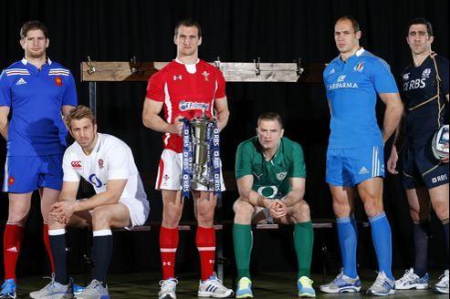 Les capitaines 2013 des six pays participants.