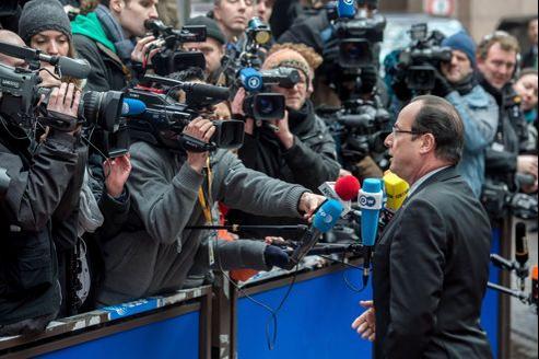 François Hollande, jeudi à Bruxelles.