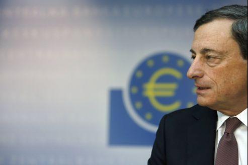 Mario Draghi, président de la BCE, ce jeudi à Francfort.