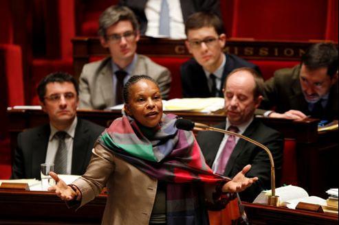La ministre de la Justice, Christiane Taubira. La vote solennel du texte doit avoir lieu le 12 février.