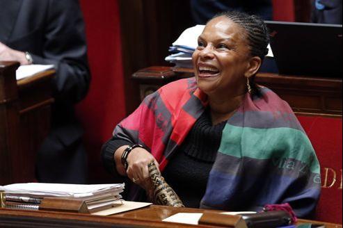 Christiane Taubira jeudi à l'Assemblée nationale.