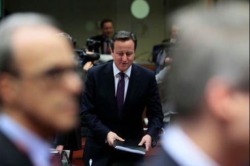 Le premier ministre britannique jeudi lors des débats