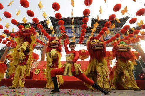Samedi, à Pékin, à l'occasion du début des festivités du Nouvel an.