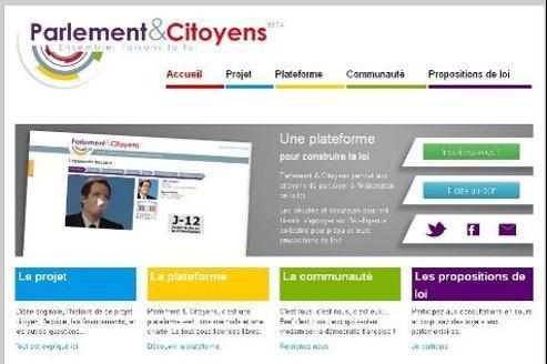 Capture d'écran du site «Parlement & Citoyens».