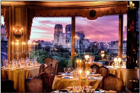 La Tour d'Argent et sa superbe vue sur Notre-Dame de Paris.