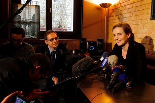 Nathalie Kosciusko-Morizet , lors de l'annonce de sa candidature à la mairie de Paris, vendredi dans un restaurant du X e arrondissement.