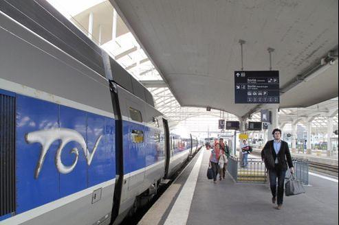 Un TGV à quai, en gare de Reims. François BOUCHON / Le Figaro