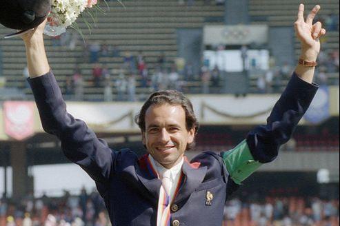 Pierre Durand au moment de sa victoire aux Jeux olympiques de Séoul.