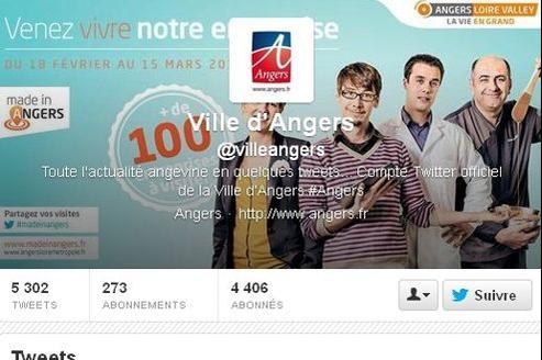 Capture d'écran de la page Twitter de la ville d'Angers.