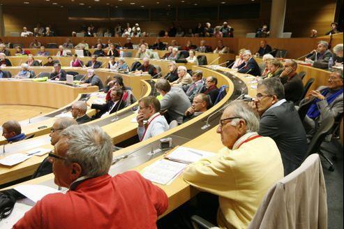 Débat autour du concordat lors des états généraux du christianisme, à la maison de la région Alsace, en octobre à Strasbourg.