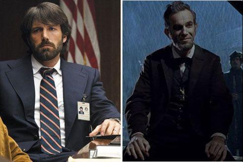 Argo de Ben Affleck et Lincoln de Steven Spielberg sont en concurrence pour l'oscar du meilleur film.