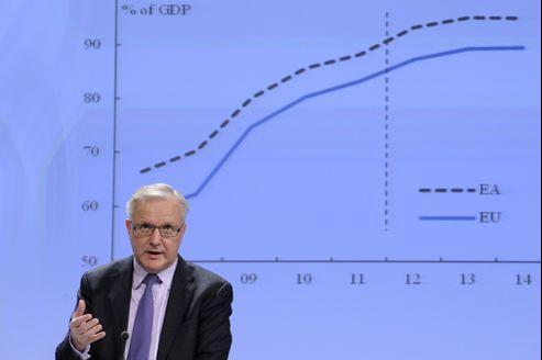Le commissaire européen Olli Rehn, ce vendredi à Bruxelles.