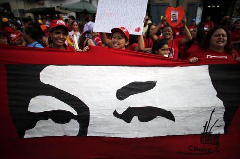 Le 18 février, les partisans d'Hugo Chavez ont manifesté leur joie de le voir revenir au Venezuela.