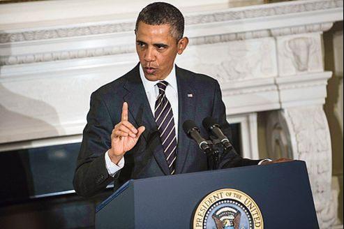 Barack Obama, s'adressant aux membres de l'Association nationale des gouverneurs le 21 février, à Washington.