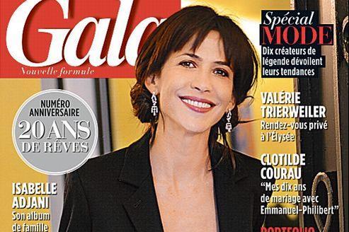En couverture du dernier numéro de Gala, Sophie Marceau.