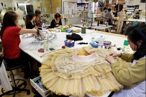 L'atelier de costumes de l'Opéra Garnier.