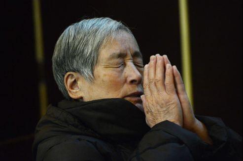 Un catholique chinois, le 20 février à Pékin.