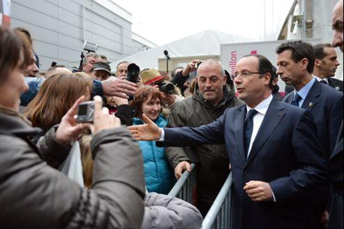 François Hollande au Salon de l'agriculture, le 23 février.