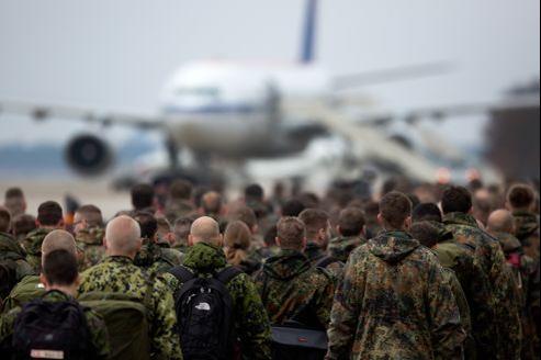 280 soldats allemands en partance pour la Turquie en janvier dernier.