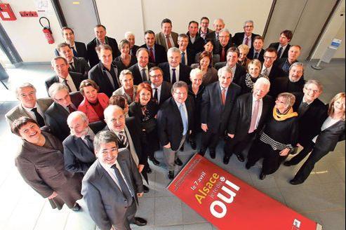 Les parlementaires réunis à Sélestat ont lancé la campagne référendaire pour le oui le 15 février.