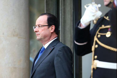 François Hollande, le 8 mars à l'Élysée.
