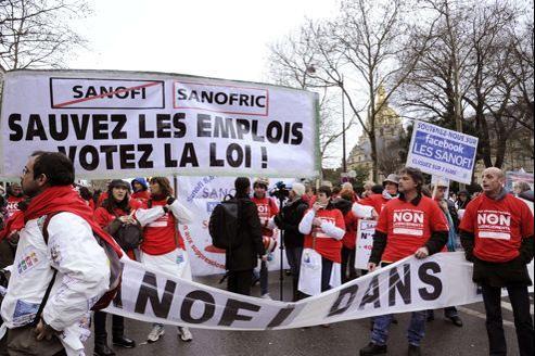 Sanofi, Goodyear, Candia et Faurecia manifestent le 29 janvier pour sauver leurs emplois.