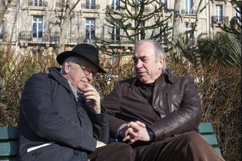 Erik Orsenna (à gauche) et Alain Baraton.