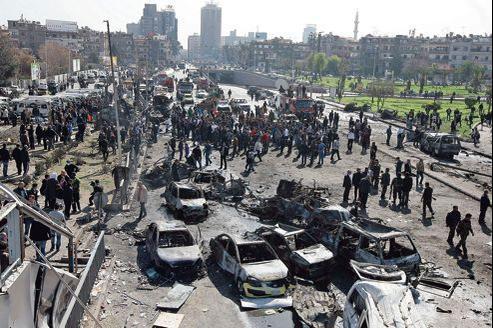 Le 21 février dernier, un attentat à la voiture piégée faisait plus de 50 morts devant le siège du parti au pouvoir, en plain cœur de Damas