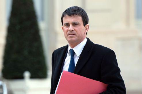 Le ministre de l'Intérieur Manuel Valls, ce mois-ci à l'Elysée.