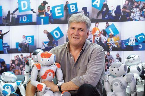 L'entreprise de Bruno Maisonnier, concepteur du robot Nao, est passée l'an dernier sous la coupe du japonais Softbank.