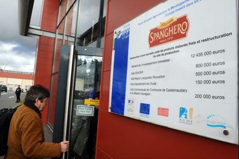 L'usine Spanghero à Castelnaudary