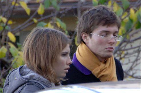 Amanda Knox et Raffaele Sollecito, son fiancé de l'époque, en novembre 2007.